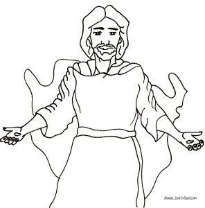 "Free ""Jesus Walks With Me"" rhyme coloring page pdf"