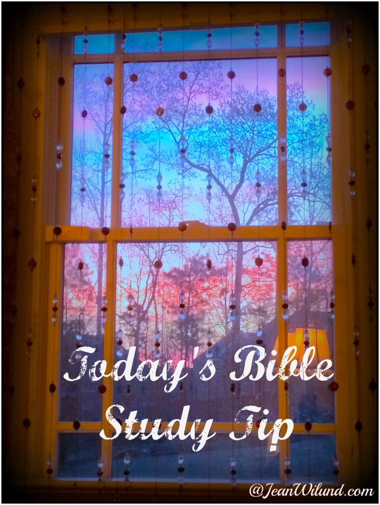 Today's Bible Study Tip