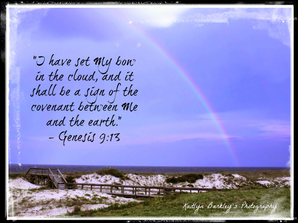 """I have set My bow in the cloud..."" ~ Genesis 9:13 (Photo by Kaitlyn Barkley)"