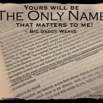 """Big Daddy Weave sings """"The Only Name"""" ~  Philippians 2:9"""