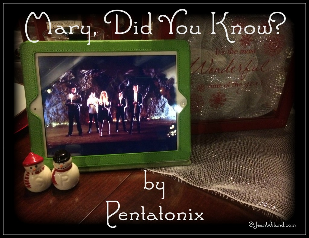 "Click to view music video: Pentatonix sing ""Mary, Did You Know?"" It's the best version ever! And it will make you think! What would you ask Jesus' mother over a cup of coffee?"