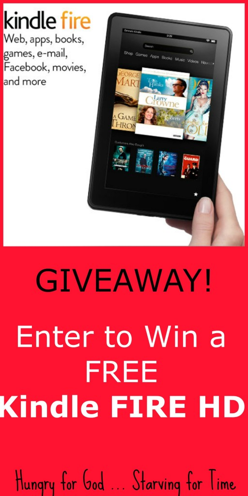 Enter to win a FREE Kindle Fire HD 7""