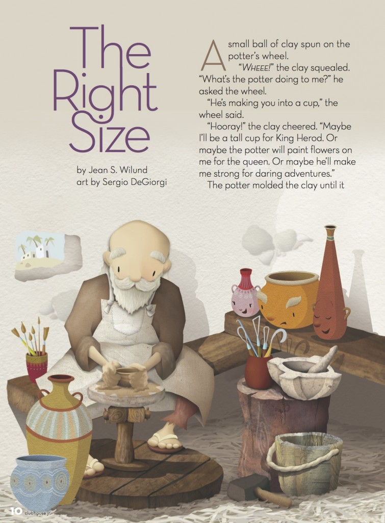 The Right Size pg 1 by Jean Wilund - Clubhouse Jr Magazine