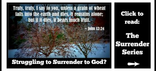 If surrendering to God has been a struggle, or you want to be encouraged in your journey of surrendering, join the journey of all-out surrender to God in The Surrender Series. Click the picture to start.