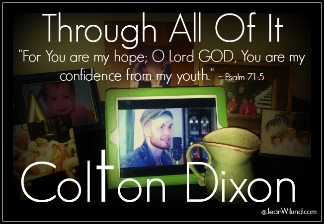 "Click to view Colton Dixon ""Through All Of It"" Music Video"
