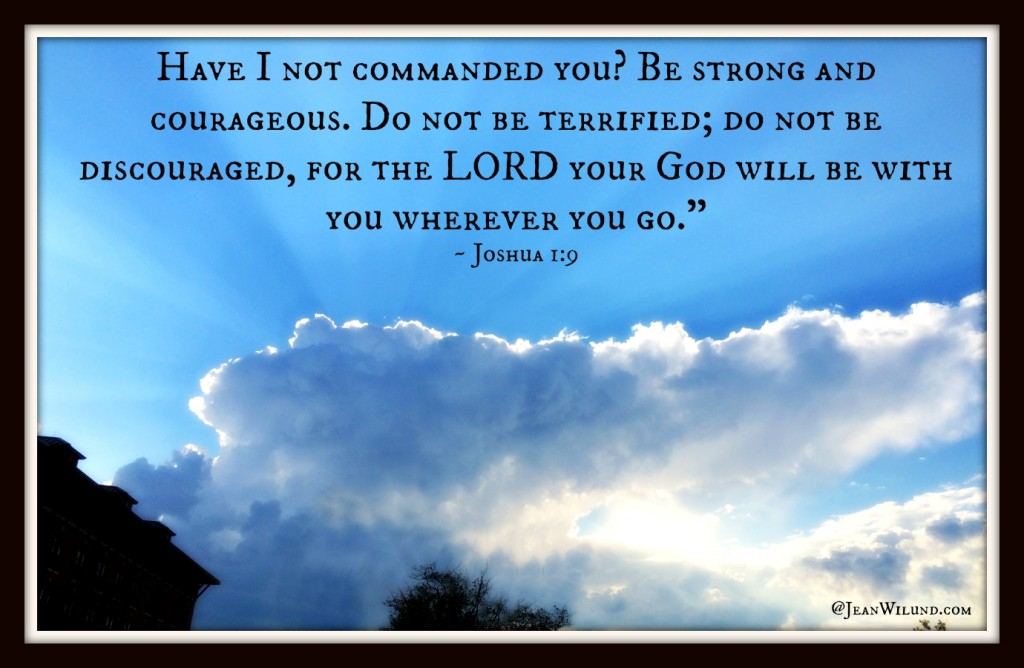 No matter what you're facing, be strong and courageous. You have no need to be terrified or discouraged. God is with you! (based on Joshua 1:9) via www.JeanWilund.com