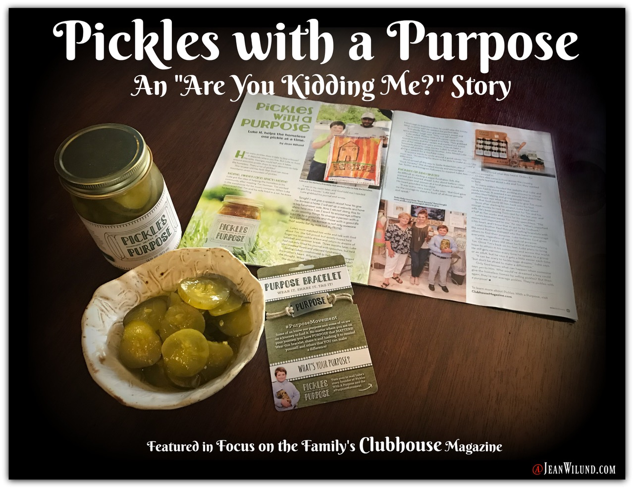 "Pickles with a Purpose (An ""Are You Kidding Me?"" Story) Ten-year-old Luke houses the homeless one pickle at a time, proving you can make a difference no matter your age. via www.JeanWilund.com"