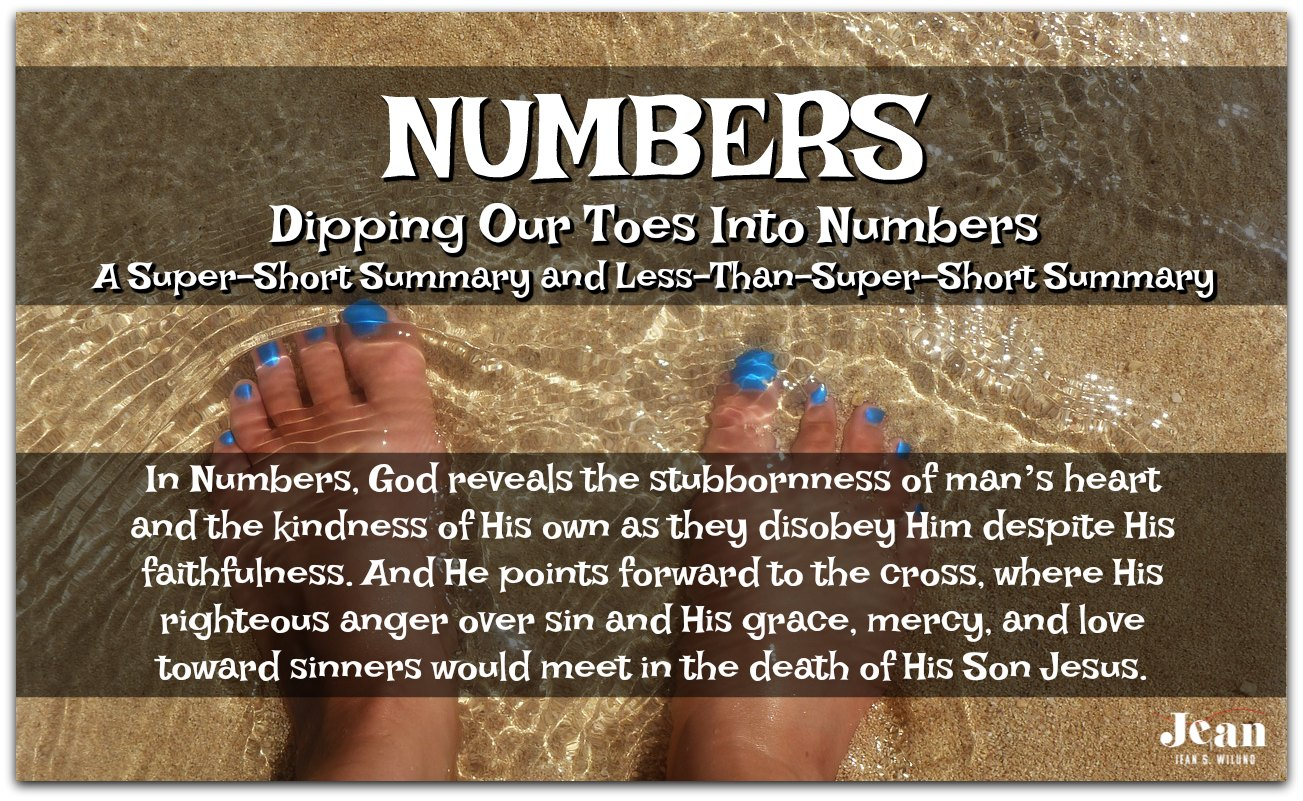 If you're new - or sort of new - to the book of NUMBERS - Dip your toes here in the Welcome to the Bible series via www.JeanWilund.com