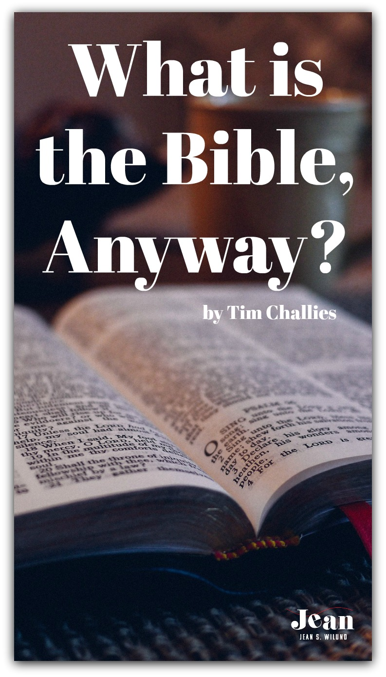 What is the Bible Anyway? by Tim Challies (via www.JeanWilund.com)