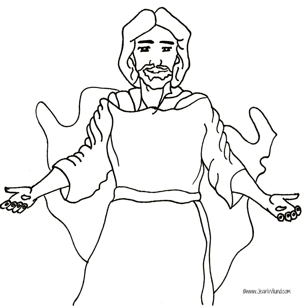 """Jesus Walks with Me"" Rhyme ~ Jesus Coloring Page - Jean S ..."